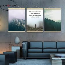 okhotcn nordic wall art painting framed mountain landscape canvas