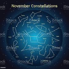 Illustrazione Vettoriale Le Costellazioni Il Cielo Notturno A Novembre -  Immagini vettoriali stock e altre immagini di Acquario - Segno zodiacale  (aria) - iStock