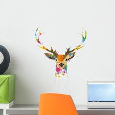 Watercolor Stag Deer Wall Decal Wallmonkeys Com