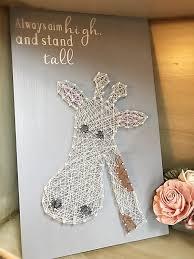 string art giraffe nursery wall art