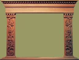 custom wood carved fireplaces mantels