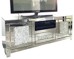 mirrored tv cabinet wall mount stand