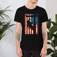 mix lineman american flag shirt