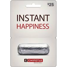 chipotle gift card enternment