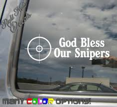 God Bless Our Snipers Army Soldier Car Auto Window Vinyl Decal Sticker 09003 Ebay