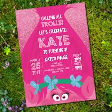 Free Trolls Party Download Set Including Invitation Decor A