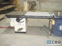 Shop Fox 10 Table Saw M N W1711 With Left Tilting Arbor And 48 Fence 5 Hp 220 Volt 1 Phase