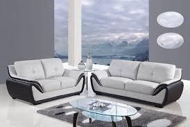modern leather 3pc sofa set light grey