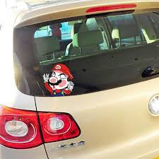 Aliauto Funny Super Mario Hit The Windshield Glass Rear Window Car Sticker And Decal For Ford Focus 2 3 Volkswagen Polo Golf 5 7 Car Sticker Car Stickers And Decalsstickers And Decals Aliexpress