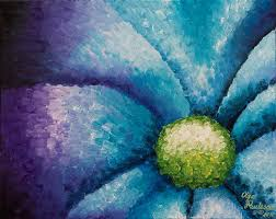 Pretty Flower Painting by Olga Smith