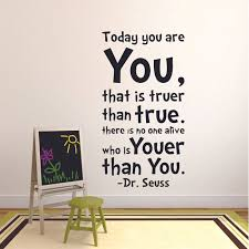 Dr Seuss Quote Customized Wall Decal Custom Vinyl Wall Art Personalized Name Baby Girls Boys Kids Bedroom Wall Decal Room Decor Wall Stickers Decoration Size 40x40 Inch Walmart Com Walmart Com