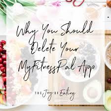 should delete your myfitnesspal app