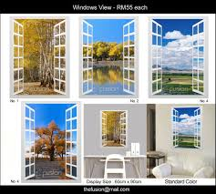 Thefusionenterprise Diy Wall Decal Wall Stickers Window View