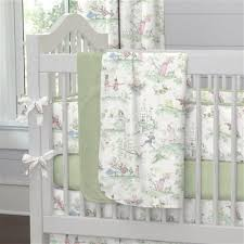 nursery rhyme toile sage baby crib