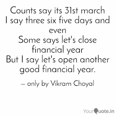 counts say its st quotes writings by vikram choyal