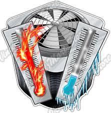 Condensing Unit Air Conditioning Hvac Heater Car Bumper Vinyl Sticker Decal 4 6 Ebay