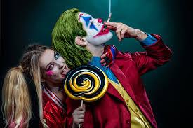 joker and harley quinn cosplay 4k hd