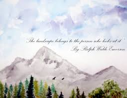 sky mountains quote nature landscape watercolor singhroha