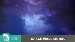 How To Paint A Space Wall Mural Diy Youtube