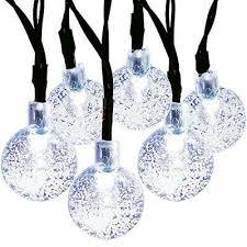 led crystal ball solar fairy lights