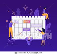 Vector Art - Scheduling concept. EPS clipart gg116441185 - GoGraph