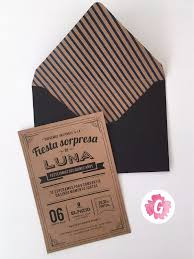 Pack 8 Invitaciones Tarjetas Casamiento Madera Kraft Blonda