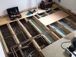 reinforcing joists with plywood