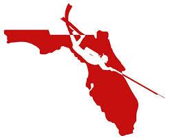 Florida Spearfishing Scuba Diver Vinyl Sticker