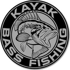 Kbf 4 Inch Round Vinyl Decal Kayak Bass Fishing