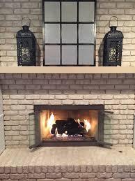 open fireplace doors when burning a fire