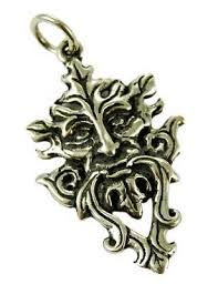 green man 925 sterling silver pendant