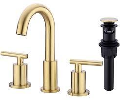 8 inch brass bathroom sink faucet