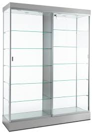 rel display case silver finish