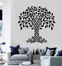 Vinyl Wall Decal Celtic Family Tree Of Life Nature Stickers Unique Gif Wallstickers4you