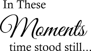 Amazon Com Vinyl Decal In These Moments Time Stood Still Quote Vinyl Lettering Sticker Home Decor Home Kitchen