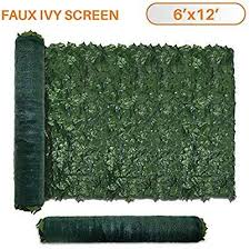 Tang Sunshades Depot 6 Ft X 12 Ft Artificial Faux Ivy Privacy Fence Screen Leaf Vine Decoration Panel With 130 Gsm Faux Leaf Vine Decoration Fence Screening