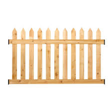 Outdoor Essentials 3 1 2 Ft H X 6 Ft W Cedar Spaced Picket Routed Fence Panel Kit 217784 The Home Depot
