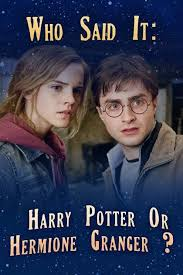 who said it harry potter or hermione granger dobby harry