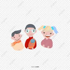 صورة العائلة شخصيات كرتونية الأب الأم الابن Png والمتجهات