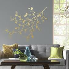 Gold Wall Decals Wall Decor The Home Depot