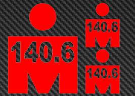 Ironman 140 6 Vinyl Sticker Decal Triathlon Tri 70 3 M Logo Kona Hawaii For Sale Online Ebay