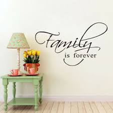 Family Is Forever Wall Sticker Bedroom Wall Art Decal Decor Living Room Ebay