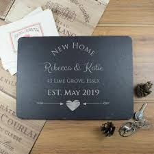 personalised slate placemat end