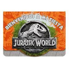Jurassic World Invitacion Con Sobre Sempertex