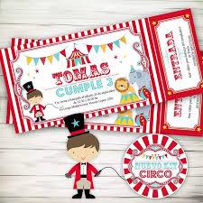Kit Imprimible Circo Invitaciones Candybar Primer Ano 300 00