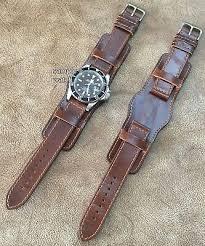 pilot aviator vintage look leather cuff
