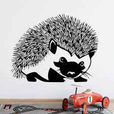 Creative Life Wall Stickers Hedgehog Home Decoration Window Vinyl Wall Stickers Wallpaper Stickers Animal Hedgehog Decal Wall Stickers Decal Walls From Joystickers 15 02 Dhgate Com