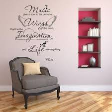 Music Gives Soul Wall Decal Quote Style And Apply