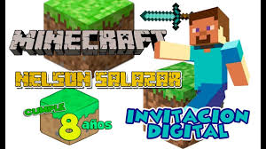 Minecraft Invitacion Digital Cumpleanos Dinamita Producciones Youtube