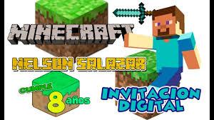 Minecraft Invitacion Digital Cumpleanos Dinamita Producciones